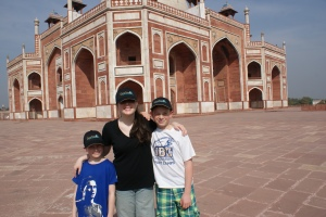 Outside Humayun's Tomb, Delhi