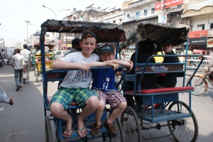 Rickshaw ride, Old Delhi.