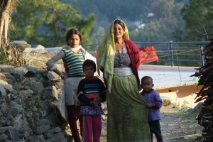 Local Family, Kumaon, Northern India.