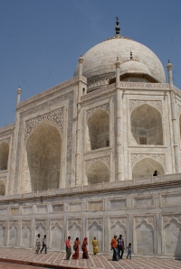"Not the ""normal"" view of the Taj."