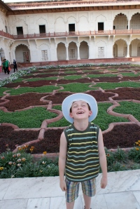 In the garden at Agra Fort